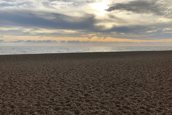 Aldeburgh beach at sunrise
